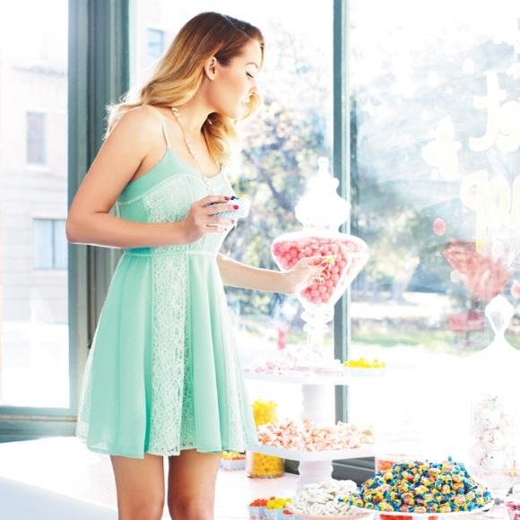 e6a08a5039851 LC Lauren Conrad Dresses   Skirts - Lauren Conrad Mint Lace Dress 8